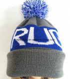 高品質によって刺繍される帽子OEMのジャカード編む帽子