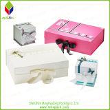 Regalo rosado personalizado de embalaje caja de zapatos con el encierro de la cinta