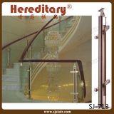 Balaustrada elegante do alumínio e da madeira/corrimão (Sj-041)