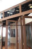 Portello Bifold di Door&Exterior Door&Bifold di alta qualità dell'acquazzone Bifold di alluminio di vetratura doppia con AS/NZS2208