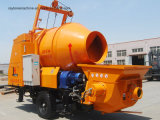 Bom desempenho com a bomba concreta Diesel do reboque móvel móvel do preço de Comptetive com misturador