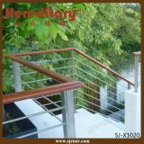 De Balustrade van het roestvrij staal voor het OpenluchtSysteem van het Traliewerk van de Trede (sj-X1019)