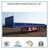 della parete laterale 40t del camion rimorchio semi con 3 assi per il trasporto del carico