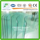 2-19mmの斜角を付けられたか、または磨かれるまたは曲げられた明確な緩和されたか強くされた安全ガラス