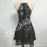 熱い販売の焼損の網袖なしの細い適合の服(DR-99)