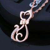 Collana Pendant Gatto-A forma di dell'oro della Rosa delle donne con la catena