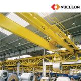 Linha de produção guindaste aéreo usado da planta de aço da viga dobro resistente