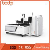 Corte del laser de la fibra del metal/precio de la cortadora del laser de la fibra con 3 años de garantía