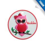 Etiqueta de borracha macia Keychain do PVC da menina encantadora dos desenhos animados