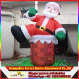 De reuze Opblaasbare Decoratie van de Werf van de Kerstman van Kerstmis van de Mens van de Sneeuw Opblaasbare