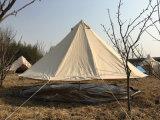 Playdoの地上シートのキャンプテントでファスナーを締められる100%年の綿のキャンバス5m鐘のテント-