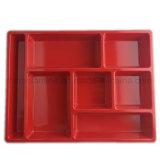 plateau de repas de mélamine du rectangle 11.5inch (TR079)