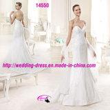 Платье сексуального темного V-Neckline способа Bridal с смычком