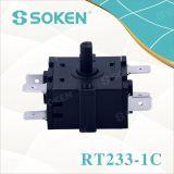 4개의 위치 (RT233-1C)를 가진 나일론 로터리 스위치
