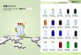 bouteilles en plastique de l'animal familier 175ml rouge foncé pour la tablette pharmaceutique