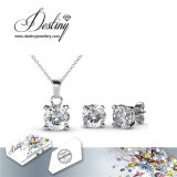 Судьба Jewellery Crystal From Swarovski Pendant и серьги Sweetheart Jewellery Set