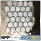 Hexagon Witte Nieuwe Marmeren Mozaïeken voor Binnenlands Ontwerp