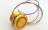 Borne de tête à tête bombée de 12 mm Borne de borne / broche Commutateur à bouton-poussoir métallique