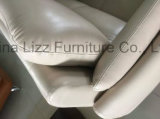 Sofà italiano operato moderno 3+1+Chaise dell'ufficio del cuoio genuino