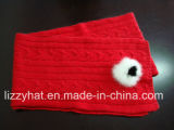 De manier Gebreide Angora Handschoenen van de Vuisthandschoen met Konijn Pompoms