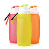 Bottiglia bevente del silicone della FDA di sport esterni della bottiglia di acqua del silicone standard di corsa