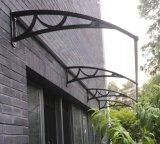 Polycarbonat verkaufte Blatt-Fenster-Markisen-Kabinendach