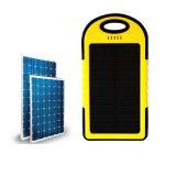 banco da potência 4000mAh solar com a bateria impermeável do telefone da capacidade total da iluminação do diodo emissor de luz