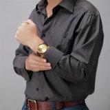 Uhr-Form-beiläufiges Serien-Leder-wasserdichte Quarz-Uhr der Belbi Männer