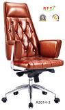 Стул самомоднейшего менеджера офиса твёрдой древесины алюминиевого кожаный (RFT-B2014-1)