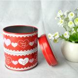 Kundenspezifischer leerer Großhandelsumlauf kann Plätzchen-Tee-Metallzinn-Kasten