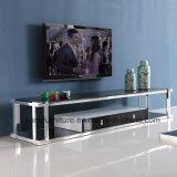 Basamento dell'acciaio inossidabile TV di alta qualità per uso del salone