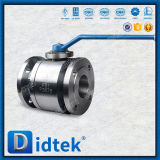 Robinet à tournant sphérique métal sur métal de flottement d'acier inoxydable de duplex de portée de Didtek