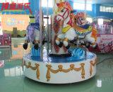 Les mini portées d'intérieur colorées du carrousel 6 joyeuses vont rond pour des gosses