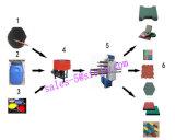 Prensa de vulcanización del azulejo de goma, prensa de vulcanización de goma del azulejo