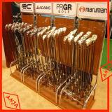 Soporte de visualización inmóvil de madera del club de golf para el departamento
