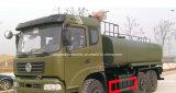 道の給水車180 HPを離れた10000L Dongfeng 6X6は輸送のトラックに水をまく