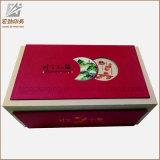 En forma de libro verde de papel de embalaje caja de té
