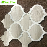 Azulejos de mosaico blancos de Carrara de la dimensión de una variable de la linterna para el diseño del arte