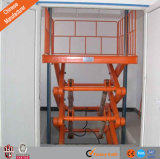 A tabela de elevador hidráulica do carro estacionária Scissor o elevador da carga da plataforma do elevador