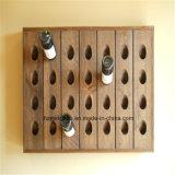 Wall botella de vino de madera para la decoración del hogar Wine Rack