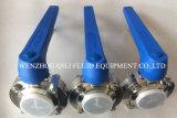 Venda quente China SMS/DIN/3A/Rjt Munual ou válvula de borboleta sanitária pneumática ou elétrica
