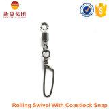 Eslabón giratorio material de cobre amarillo del balanceo con el eslabón giratorio rápido de la pesca de Coastlock