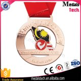 Medalhas Running da forma da bandeira dos esportes da prata antiga feita sob encomenda