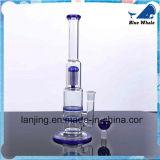 Blaues Rohr Glaswasser-Rohr-Glas-Huka