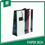 Bunter gedruckter Packpapier-Beutel mit glatter Laminierung