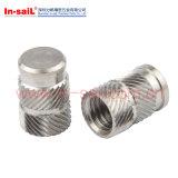 Double noix Extérieur-Moletée de garniture intérieure filetée