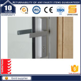 Doubles portes de charnière de portes résidentielles en aluminium avec la taille normale de porte