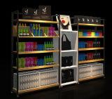 O canto denomina a prateleira do supermercado para o dispositivo elétrico da loja