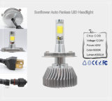 MAZORCA auto LED Headlight/H4 de Fanless 4000lm del girasol