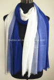 Elegant Hand-Drawing Degrading Style Thin Viscose Stole / Lady Scarf (HMV13)